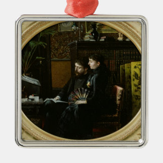 Alphonse Daudet  and his Wife in their Study Christmas Ornament