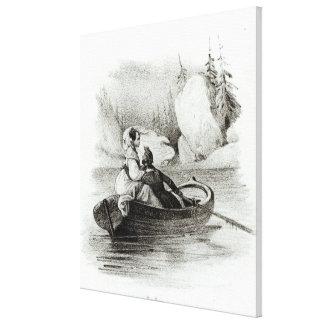 Alphonse de Lamartine  and Elvire Canvas Print