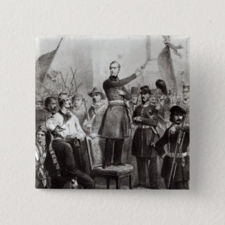 Alphonse de Lamartine at the Town Hall 15 Cm Square Badge