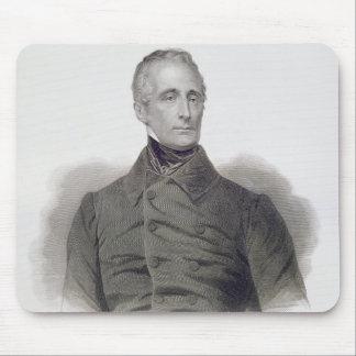 Alphonse de Lamartine, engraved by Pierre Pelee (1 Mouse Mat
