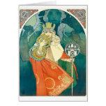 Alphonse Maria Mucha ~ Art Nouveau Card