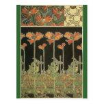 Alphonse Maria Mucha ~ Decoratifs Postcard