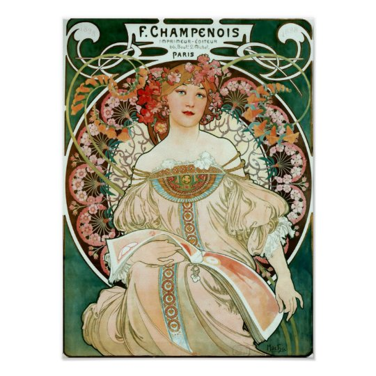 Alphonse Mucha 1895 Poster