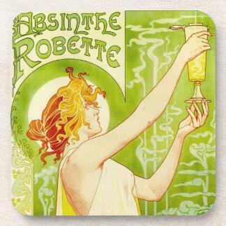 Alphonse Mucha Absinthe Robette Coasters