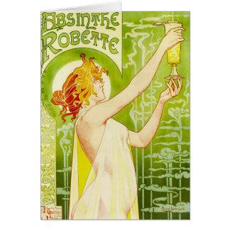Alphonse Mucha Absinthe Robette Greeting Card