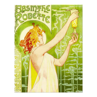 Alphonse Mucha Absinthe Robette Invitations