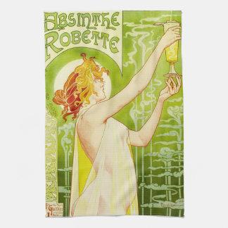 Alphonse Mucha Absinthe Robette Kitchen Towel