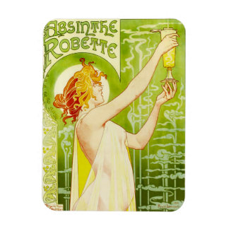Alphonse Mucha Absinthe Robette Magnet