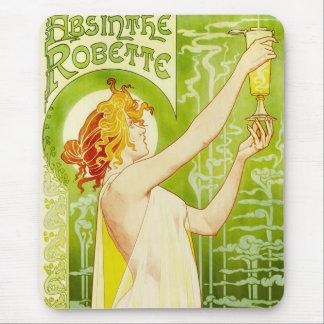 Alphonse Mucha Absinthe Robette Mouse Pad
