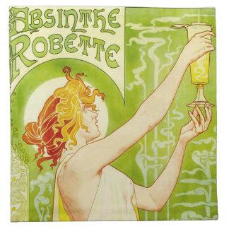 Alphonse Mucha Absinthe Robette Napkins