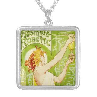 Alphonse Mucha Absinthe Robette Necklace