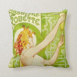 Alphonse Mucha Absinthe Robette Pillow Cushions