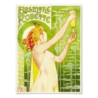 Alphonse Mucha Absinthe Robette Print