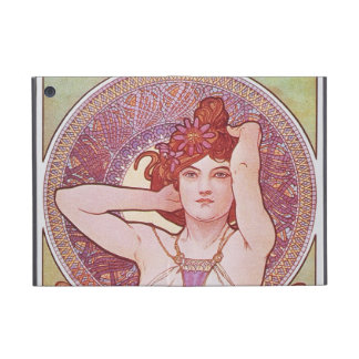 Alphonse Mucha Amethyst Art Nouveau Lady Vintage Cover For iPad Mini