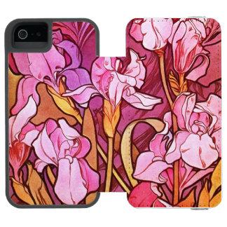 Alphonse Mucha Amethyst Floral Vintage Art Nouveau Incipio Watson™ iPhone 5 Wallet Case
