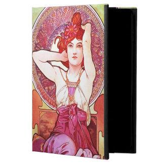Alphonse Mucha Amethyst Floral Vintage Art Nouveau Powis iPad Air 2 Case