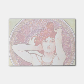 Alphonse Mucha Amethyst Floral Vintage Art Nouveau Post-it® Notes