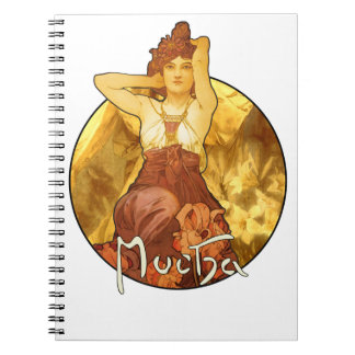 Alphonse Mucha - Amethyst Precious Stones Notebook