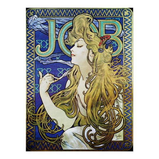 Alphonse Mucha Art Nouveau Advertising Poster