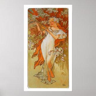 Alphonse Mucha - Art Nouveau - Spring Poster