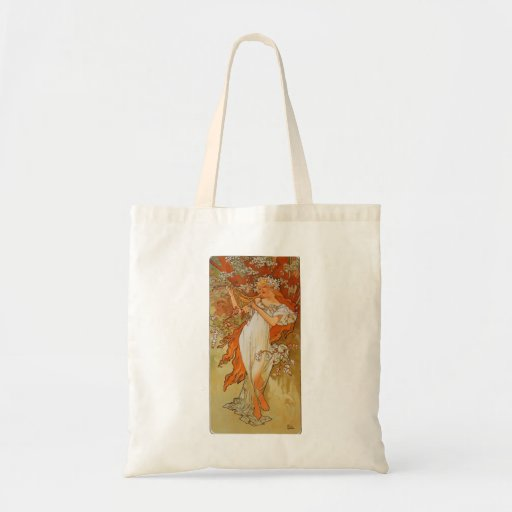 Alphonse Mucha - Art Nouveau - Spring Budget Tote Bag