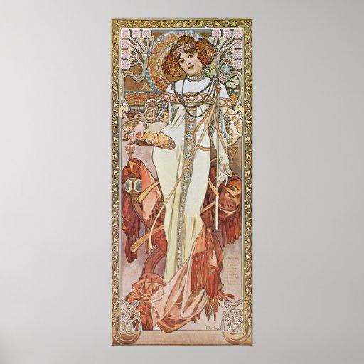Alphonse Mucha. Automne/Autumn, c.1903 Poster