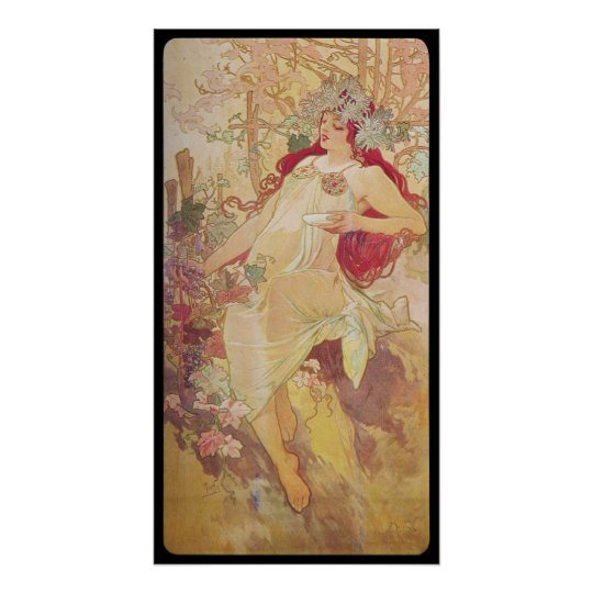 Alphonse Mucha Automne Autumn Poster