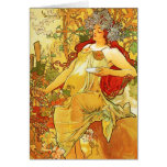 Alphonse Mucha Autumn Greeting Card