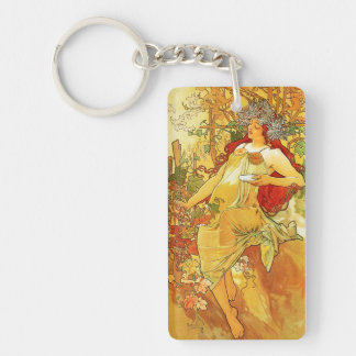 Alphonse Mucha Autumn Key Chain