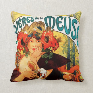 Alphonse Mucha Beer of the Muse Pillow