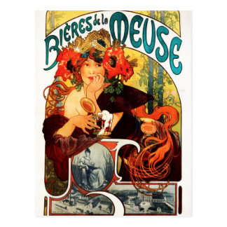 Alphonse Mucha Beer of the Muse Postcard