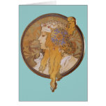 Alphonse Mucha ~ Byzantine Head: The Blonde