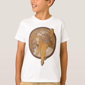 Alphonse Mucha ~ Byzantine Head: The Blonde T-Shirt