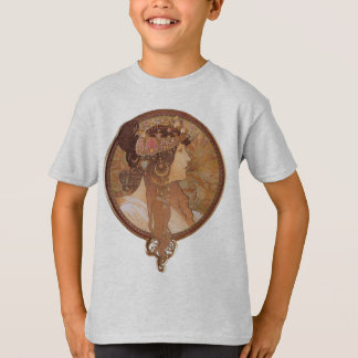 Alphonse Mucha Byzantine Head, The Brunette T-Shirt