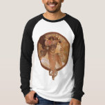 Alphonse Mucha Byzantine Head, The Brunette Tee Shirts