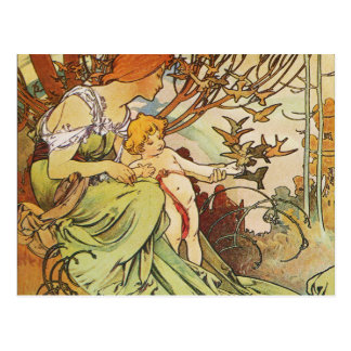 Alphonse Mucha. Chocolat Masson/Mexicain 1897 Postcard