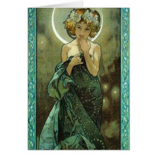 Alphonse Mucha Clair De Lune Note Card