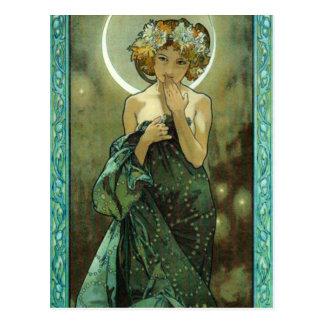 Alphonse Mucha Clair De Lune Postcard