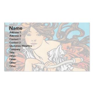 Alphonse Mucha - Cycles Perfecta Business Card Templates