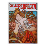 Alphonse Mucha. Cycles Perfecta, c.1897 Poster