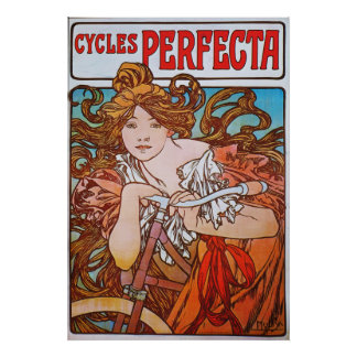 Alphonse Mucha. Cycles Perfecta, c.1897 Poster