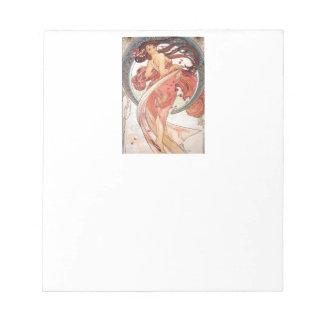 "Alphonse Mucha, ""Dance"" Notepad"