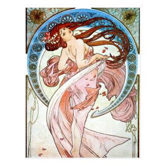 Alphonse Mucha Dance Postcard