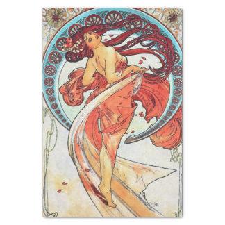 Alphonse Mucha Dance Vintage Art Nouveau Painting Tissue Paper