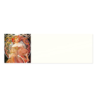 Alphonse Mucha Daydream Floral Vintage Art Nouveau Pack Of Skinny Business Cards