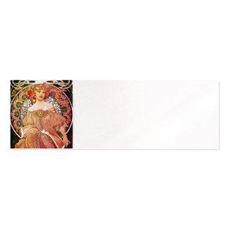 Alphonse Mucha Daydream Floral Vintage Art Nouveau Business Cards