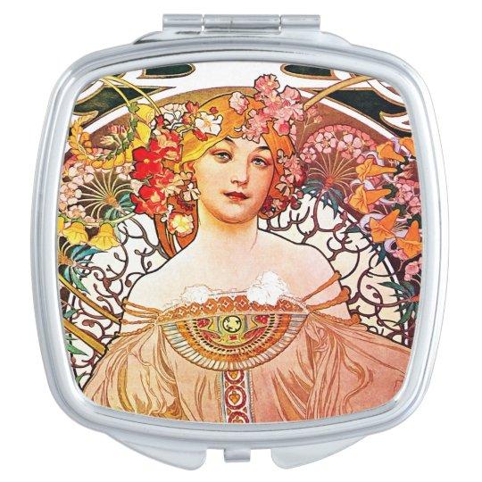 Alphonse Mucha Daydream Floral Vintage Art Nouveau Travel