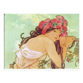Alphonse Mucha. Ete/Summer, 1896 Postcard