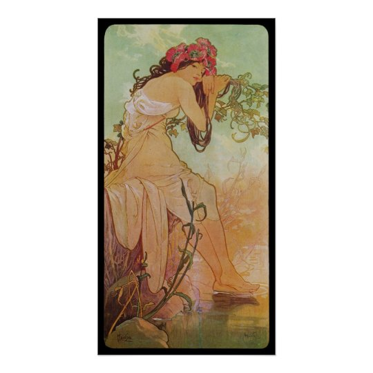 Alphonse Mucha Ete Summer Poster