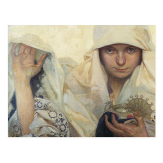 Alphonse Mucha - Fate Post Card